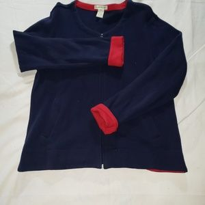 Orvis Blue Red Zip soft sweater Size M